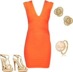 Orange summer, created by lucapoole on Polyvore