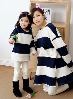 """Today's Hot Pick :Flared Wide Stripe Pullover http://fashionstylep.com/SFSELFAA0002506/funnylove09en/out Providing you with the best in coordinated family clothing, or """"Family Look"""" straight from the heart of fashion - Seoul, Korea! All our products are made from high quality materials and made with your family in mind. If you have questions about specific sizing, please feel free to contact us!"""