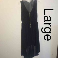 ⚡️FINAL Hot black high low dress with open back Hot black high low dress with open back size large Bundle deals available (I carry various sizes and brands): 2 items 10% off, 3 items 15% off, 4 items or more 20% off  Sans Souci Dresses High Low