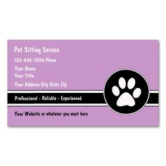 2185 best animal pet care business card templates images on pet sitting business cards wajeb Image collections