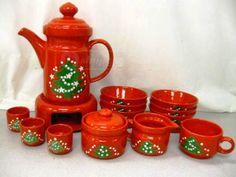 shopgoodwill.com: 16pc Waechtersbach Christmas Dishes Teapot Bowls