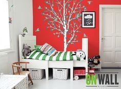 Floral Nursery Tree Wall Decal Wall Sticker by ONWALLstudio, $82.00