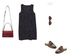 """Sin título #2370"" by paolabw ❤ liked on Polyvore featuring MANGO, Gucci, Persol and Lanvin"