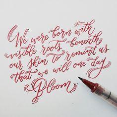 Bloom | Lettering by Sophia Louisse
