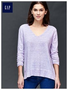 Cotton essential V-neck sweater - Our v-neck and cardigan. 100% cotton. 100% perfect for every day.