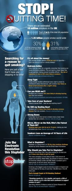 Quit Smoking Infographic SO GLAD I QUIT OVER 2 MONTHS AGO!! WOOOHOOO!