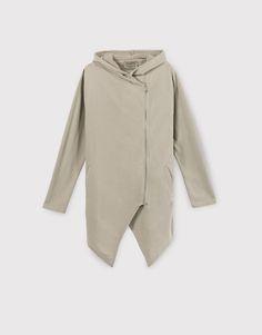 :Plush zipped jacket