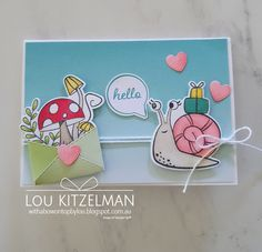 Snail Cards, Slider Cards, Bday Cards, Animal Cards, Cool Cards, Stampin Up Cards, Cardmaking, Paper Crafts, Snail Mail