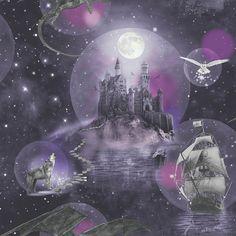 Coloroll Be Dazzled Fairy Dream Moondust Glitter Wallpaper M1422