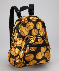 Take a look at this Yellow Softball Mini Backpack by Patterned Packs Collection on today! Softball Bags, Mini Backpack, Snuggles, Little Ones, Heather Grey, Infant, Plush, Take That, Backpacks