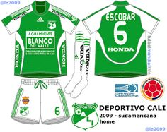 Deportivo Cali of Colombia home kit for 2009.