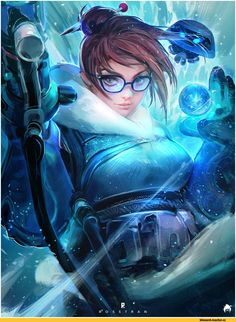 Overwatch,Blizzard,Blizzard Entertainment,фэндомы,Mei (Overwatch),Overwatch art,Ross Tran,RossDraws,artist