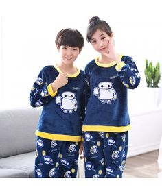 c2ce6d7862dc New flannel pajamas set for children in autumn and winter Girls Sleepwear