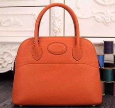 d9473fa643ea Hermes Bolide 31cm Togo Leather Orange Bag Hermes Handbags