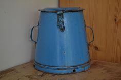 Blue Enamel Grain / Storage Bin, £25.00 Grain Storage, Grains, Enamel, Canning, Blue, Isomalt, Polish, Enamels, Tooth Enamel