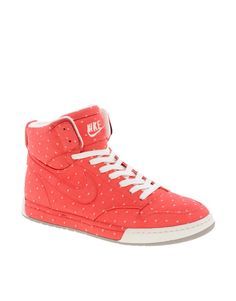 04b4dc8f140df Trendy Women s Sneakers   Nike Air Royalty Hi Top Orange Sneakers.