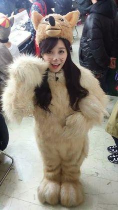 A Pink's Eunji is a cute 'fox'? -