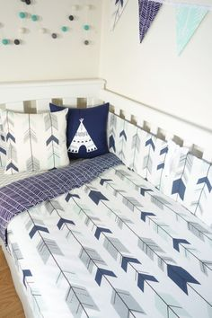 Mint navy and grey joining arrows and navy by MamaAndCub on Etsy