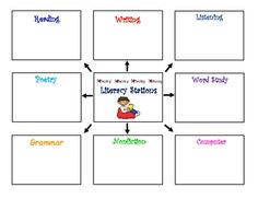 I use this as my lesson plans for my literacy block.  It helps me organize my literacy center for each week.  Saves me so much time and keeps my ce...