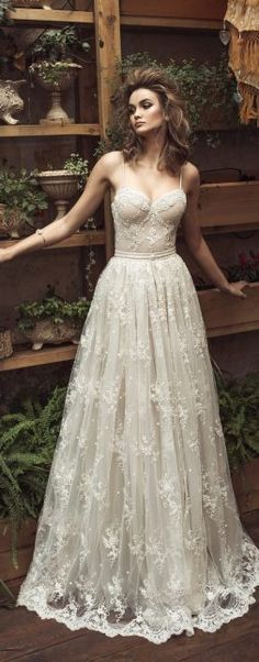 Wedding Dress by Julie Vino 2017 Romanzo Collection  | Ballgown with sweetheart neckline