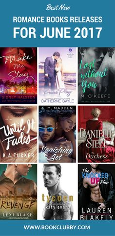 Meet your new book boyfriends! The best new romance books worth reading in June 2017 - add them on your books to read list before they go viral.