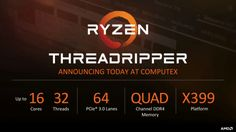 AMD Threadripper 1920X and 1950X CPU Details: 12/16 Cores, 4 GHz Turbo, $799 and $999 - https://www.loudread.com/amd-threadripper-1920x-and-1950x-cpu-details-1216-cores-4-ghz-turbo-799-and-999/