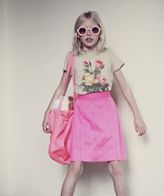 Wildfox Kids Fall 2012 Love the glasses and vivid pink skirt