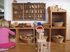 Superbe Wood Shelf For Collecting Things Like Shells. Love The Peg People Shelf.  Childrenu0027s Room   Toy Storage ...