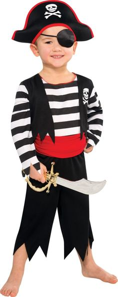 Toddler Boys Rascal Pirate Costume - Party City