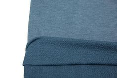 Heather Muted Blue French Terry Knit Fabric 1 yard FTK00287
