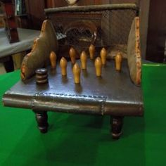 Northamptonshire Skittles. Original Table.Small size. | Browns Antiques Billiards and Interiors.