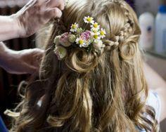 Tipi Vintage Wedding - Bridesmaids/Flower girl hair