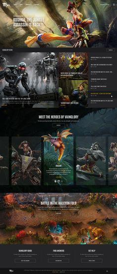Vainglory Game UX UI Web Design | BASIC™ | A Branding & Digital Design Agency