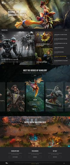 Vainglory Game UX UI Web Design | BASIC™ | A Branding & Digital Design Agency