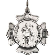 St Florian Round Fire Fighters Solid Sterling Silver Protect Us Medal - Fine Jewelry Fashion Saint Florian, Fire Fighters, Patron Saints, Gifts For Boys, Seals, Pocket Watch, Fine Jewelry, Quilting, Fashion Jewelry