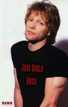 Jon Bon Jovi - I think his shirt has been digitally altered in this pic
