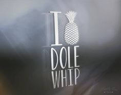 Dole Whip, Pineapple Window Decal, Vinyl Decal, Happily Ever Tees, Decal for computer, iPad, laptop, car window, Car Window Decal