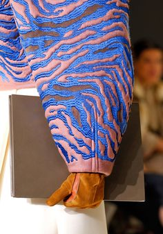 Balenciaga - Simplistic patterns would look good devored out in areas and printed over in areas to add textural interest.