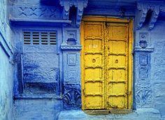 Yellow door - Jodphur, Rajasthan