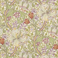 The Original Morris & Co - Arts and crafts, fabrics and wallpaper designs by William Morris & Company   Products   British/UK Fabrics and Wallpapers   Golden Lily (DM6P210399)   Archive Wallpapers