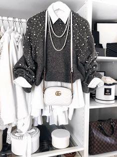 Zara Pearl Jumper and Gucci Marmont Bag
