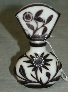 Chinese Peking glass perfume bottle marked china on bottom