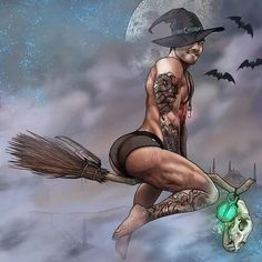 Lgbt, Male Fairy, Male Witch, We Go Together, Cartoon Tattoos, Satyr, Bear Art, Halloween 2019, Wiccan
