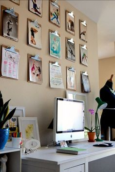 Organize & Decorate: Clipboards in the Home Office   Apartment Therapy