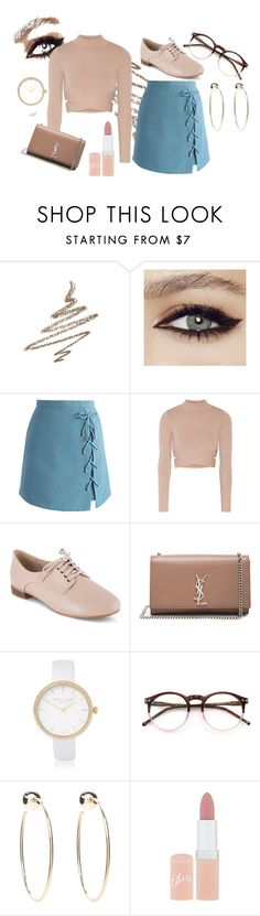 """""""Rosey Suede"""" by kgirl114 ❤ liked on Polyvore featuring Anastasia Beverly Hills, Chicwish, Jonathan Simkhai, Clarks, Yves Saint Laurent, River Island, Wildfox, Bebe and Rimmel"""