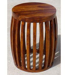 #Indyjski #drewniany taboret stolik #Mebel zrobiony solidnego drewna egzotycznego @ http://www.indianmeble.pl