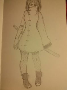 #anime #girl #pencil #ninja