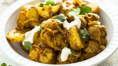 Indický bramborový salát