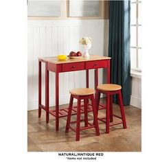 3-Piece Set: Breakfast Table & Stools - Assorted Colors at 60% Savings off Retail!