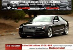 Instantautotitleloans.com provides instant title loans quickly. You can call us at 800-210-0790 to have instant auto title loans at any time.